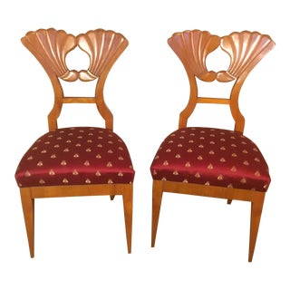 Beidermeier Revival Occasional Chairs - A Pair For Sale