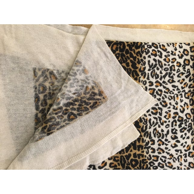 Large Thin Leopard Cashmere Throw - Image 9 of 10