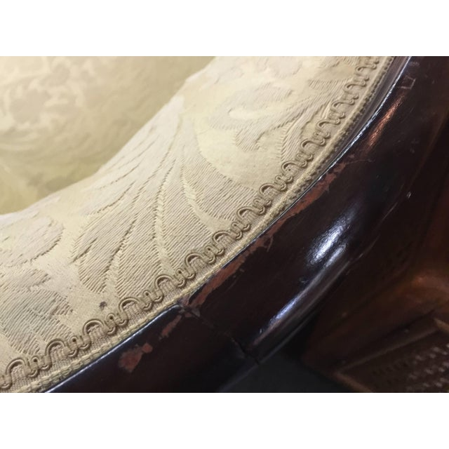 Wood Wood Wrapped French Sofa For Sale - Image 7 of 8