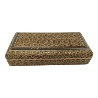 Persian Khatam Micro Mosaic Jewelry Box For Sale