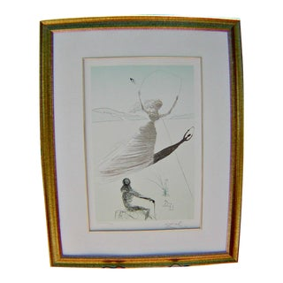 """Alice Skipping Rope"" Print Pencil Signed/Numbered by Salvador Dali For Sale"