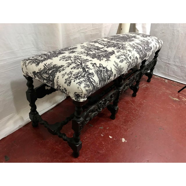 French Louis XIII Style Bench For Sale - Image 4 of 7