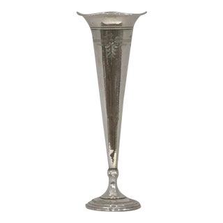 1940 Vintage George a Henckel & CO Sterling Silver Trumpet Vase For Sale