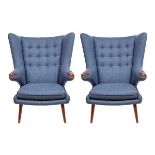 Pair of Pavel Wingback Armchairs For Sale