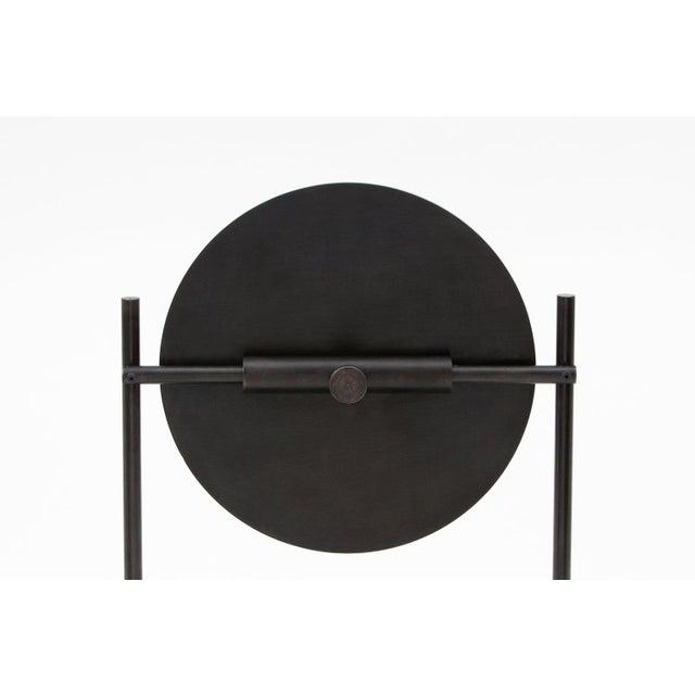 Steven Bukowski Steven Bukowski Contemporary Harp Vanity in Blackened Steel For Sale - Image 4 of 5