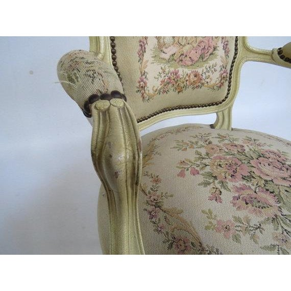 1950's Louis XV Chair For Sale In New York - Image 6 of 9