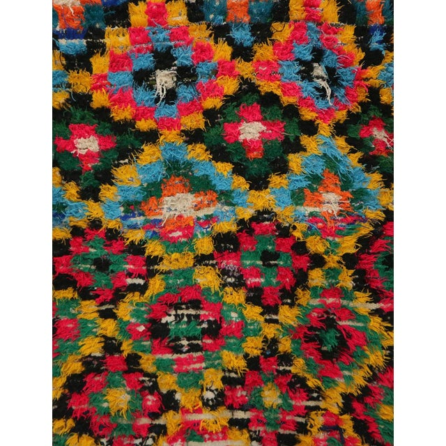 Islamic 1980s Boucherouite Moroccan Rug - 3′7″ × 6′7″ For Sale - Image 3 of 6