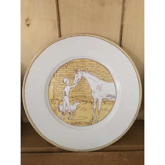 2000s Vintage Hermès 6-Piece Dinner Plate Set For Sale - Image 5 of 10