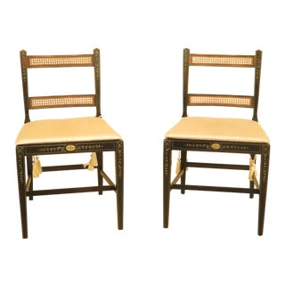 Kindel Adam Paint Decorated Lane Side Chairs - A Pair For Sale