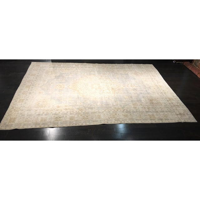 "Distressed Turkish Oushak Rug - 9'5"" X 12'8"" - Image 2 of 9"