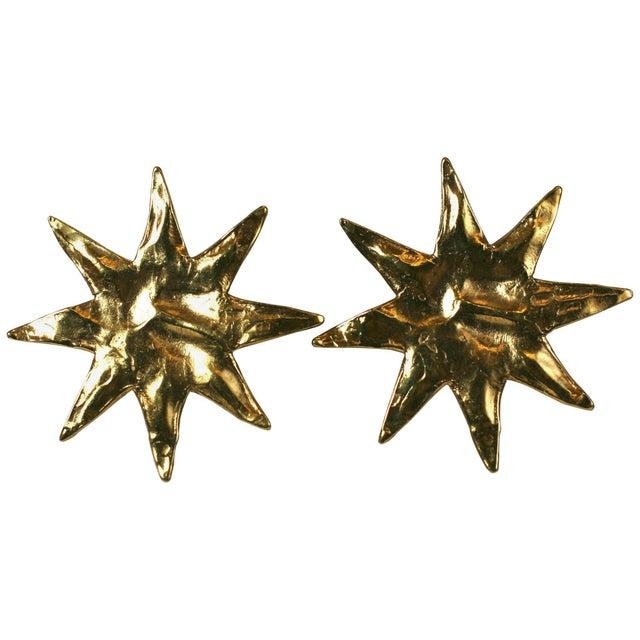 Yves Saint Laurent Yves Saint Laurent Starburst Earclips For Sale - Image 4 of 4