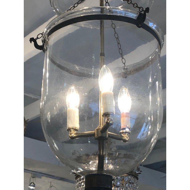 Mid 19th Century Antique Traditional Hurricane Style Foyer Lantern Chandelier For Sale In Philadelphia - Image 6 of 8