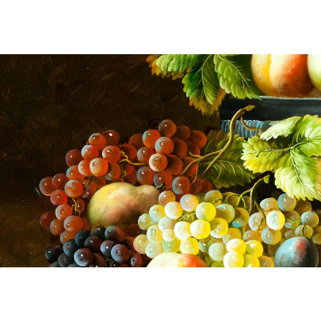 Canvas Fruit Still Life Giltwood Framed Oil / Canvas Painting For Sale - Image 7 of 11