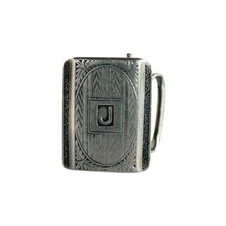 """Sterling Silver """"J"""" Monogrammed Belt Buckle For Sale"""