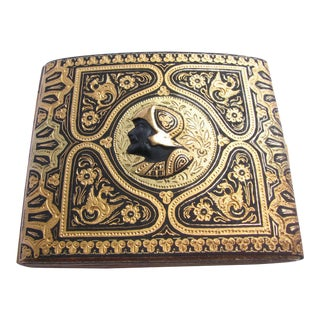 1920s Toledo Damascened Gold Inlay Cigarette Case For Sale