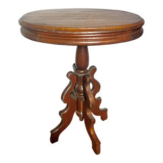 19th Century Victorian Pine Scrollwork Base Table For Sale