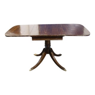 1920s Chippendale Mahogany Drop-Leaf Table For Sale