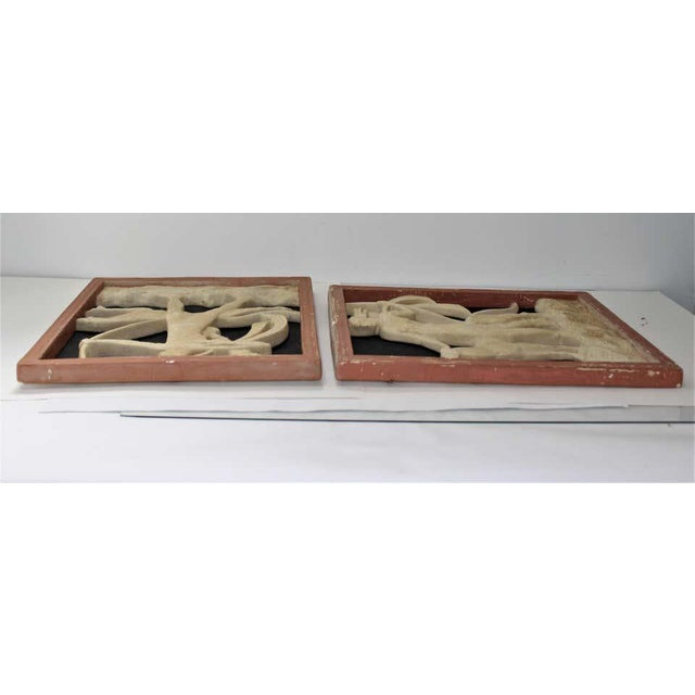 Art Deco 1920s Wall Plaques - a Set of 2 For Sale - Image 12 of 13