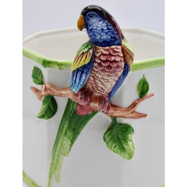 1960s Large Italian Ceramic Parrot Planter For Sale - Image 10 of 13