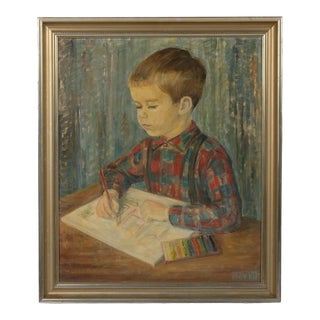Mid-C. Portrait of a Young Boy Painting For Sale