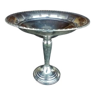 Vintage Mid 20th Century Sterling Silver Weighted Pedestal Candy/Nut/Bon Bon Dish For Sale