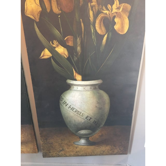 Mid 19th Century 19th Century French Monumental Floral Paintings - a Pair For Sale - Image 5 of 7
