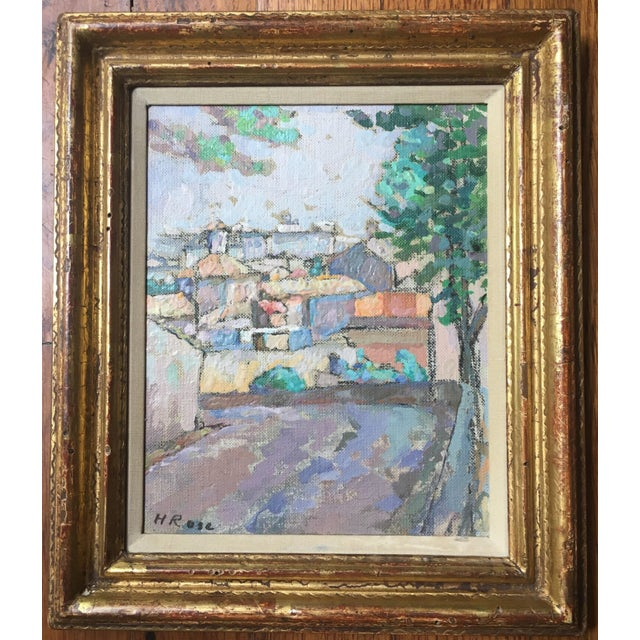 Oil on canvas, signed, H. Rose, in original frame. Admired for his cityscapes i think this is a really beautiful example...