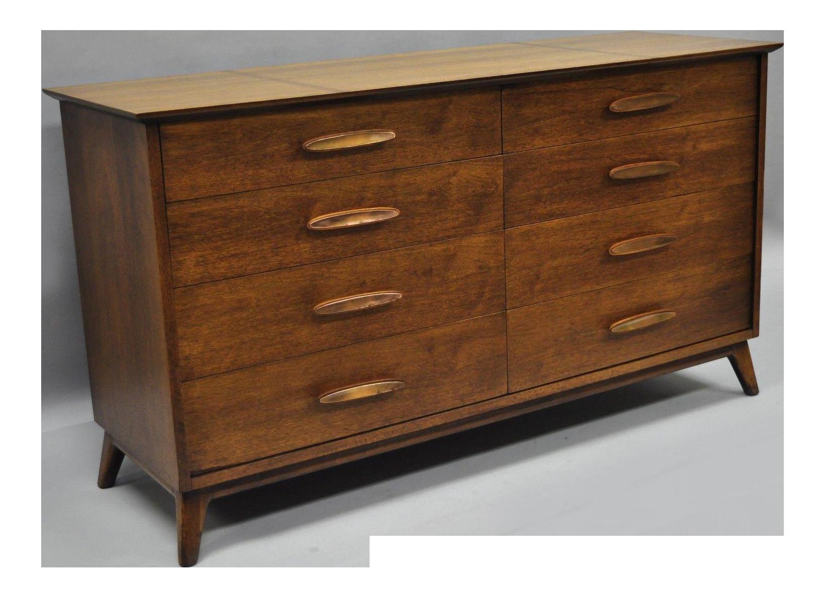 Superieur Heritage Henredon Mid Century Modern Walnut Chest Of Drawers Long Dresser