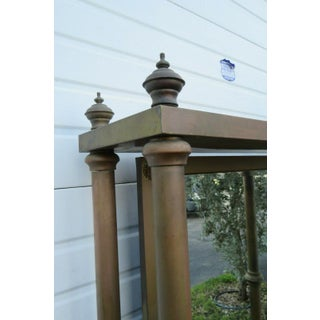 19th Century Victorian Brass Distressed Large Tall Hall Tree Preview