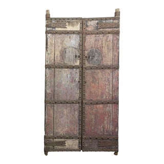 19th Century Chinese Heavy Wooden Gates - a Pair For Sale