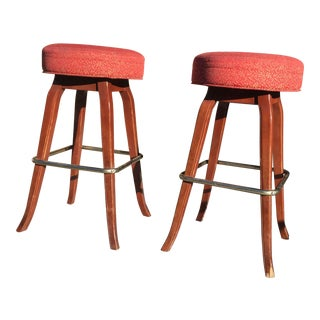 1960s Retro L& B Co. Bar Stools- A Pair For Sale