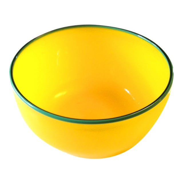 Hand Blown Signed Art Glass Bowl - Image 1 of 5