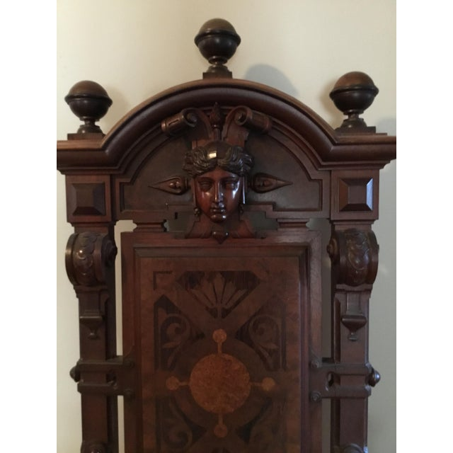 Renaissance Revival Mahogany Throne Chair For Sale - Image 4 of 9