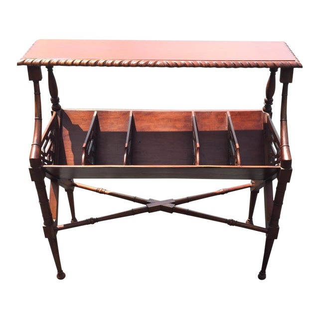Mahogany Bamboo Chippendale Magazine Table - Image 1 of 10