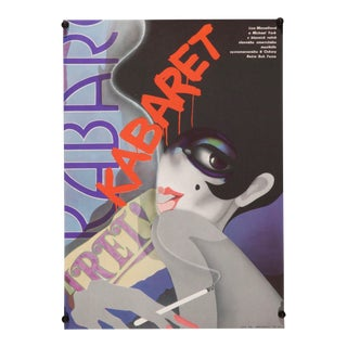"Vintage Original Liza Minnelli/Bob Fosse ""Cabaret"" Czech Film Poster For Sale"
