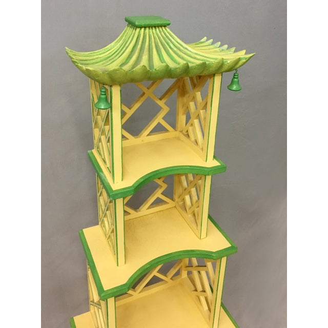 Asian Chinese Style Painted Shelf For Sale - Image 3 of 11