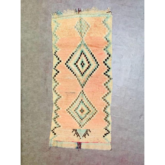 1970s Vintage Moroccan Beni Ourian Rug-3′12″ × 8′6″ For Sale - Image 11 of 11