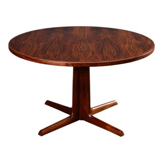 1960s Danish Modern Gudme Round Rosewood Dining Table For Sale