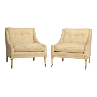 Directoire Style Slipper Chairs, circa 1940 - a Pair For Sale
