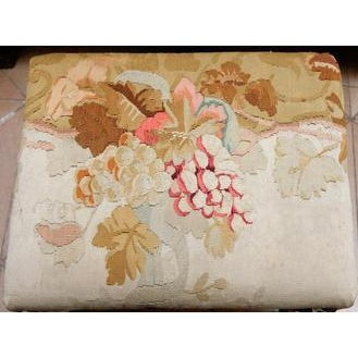French 19th Century French Bench with Aubusson For Sale - Image 3 of 4