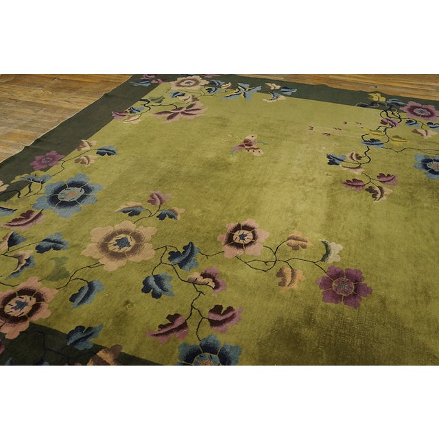 Antique Chinese Art Deco Rug For Sale - Image 9 of 13