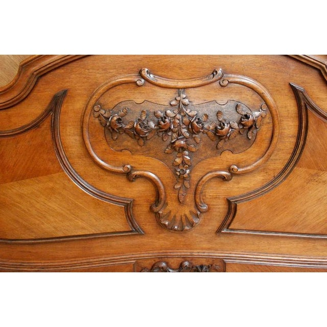 Antique French Rococo Louis XV Style Bed - Image 3 of 7