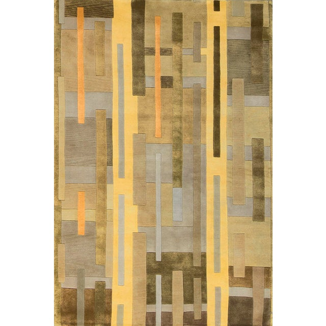 Contemporary Hand Woven Rug - 4'10 X 7'9 For Sale - Image 4 of 4