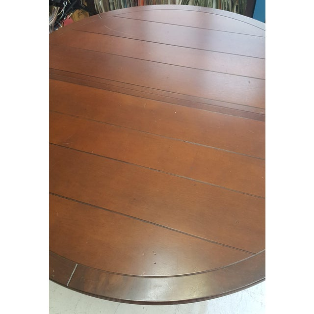 Creative Metal Round Table With Extra Leaf For Sale - Image 4 of 12