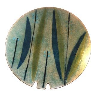 1960s Contemporary Enameled Copper Ashtray