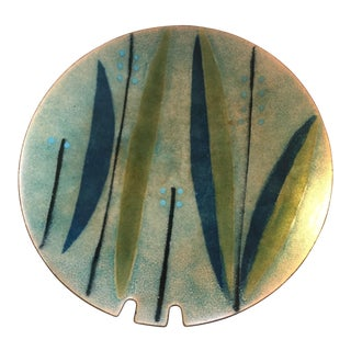 Mid Century Modern Enameled Copper Ashtray For Sale