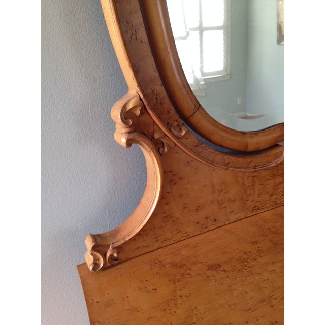 Birds Eye Maple Dresser Chest with Mirror For Sale In Charleston - Image 6 of 7
