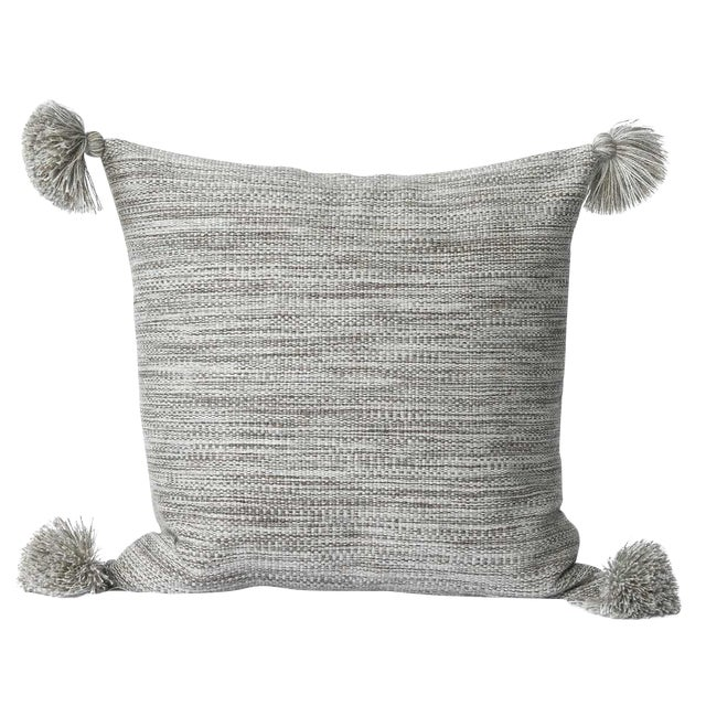 Heather Gray Alpaca Wool Pillow - Image 1 of 3