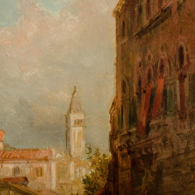 """19th Century 19th Century """"Venice in June"""" Cityscape Oil Painting by Alfred Pollentine For Sale - Image 5 of 10"""