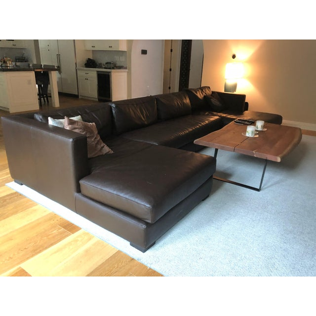 Restoration Hardware 1970s Design Modern U Chaise Sectional Leather ...